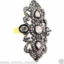 Estate Victorian 2.63cts Natural Rose Antique Cut Diamond Silver Ring Jewelry