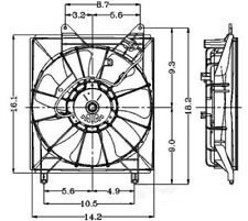 Engine Cooling Fan Assembly Global 2811276 fits 2000 Toyota Avalon 3.0L-V6