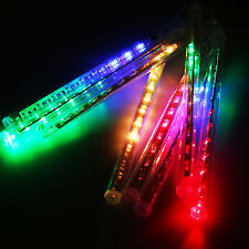 30cm 144 LED Lights Meteor Shower Rain 8 Tube Xmas Snowfall Tree Outdoor Light