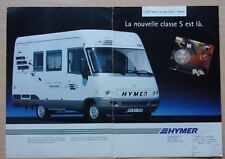 page de publicite CAMPING CAR HYMER en 1995  ref. 53857