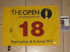 Ernie Els signed 2012 British Open Championship Winner Golf Pin Flag JSA #K96738