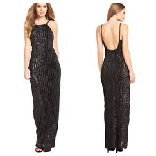 Gorgeous Black Sequin Maxi DRESS Gown Party Evening Sparkle Xmas Size 14 £120