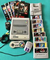 SNES Super nintendo Console With Controller,Mouse, Super Gameboy+8 Games Bundle