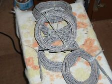 ONE 14ft Heavy Duty Western Electric /AIW 10 gauge  WIRE stranded cloth PAIR