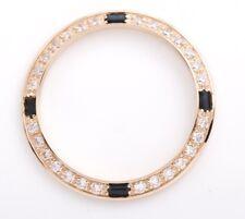 Aftermarket 18K Gold Diamond Sapphire Bezel Rolex Ladies Datejust/President 26mm