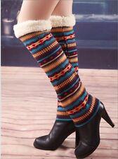 USA Seller!! Leg Warmers Knee High Boot Cuffs Socks Topper 3 Colors Cotton Fur