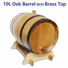 10L American Oak/Wooden/Wine Barrel Free Upgrade to Brass Tap