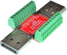 Displayport Male to Displayport Male pass-through adapter breakout