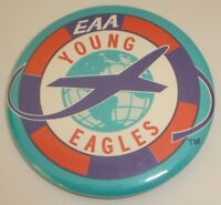 """Vintage Young Eagles EAA Aviation Pinback Button (2 1/4"""")"""
