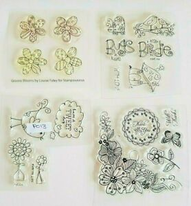 ~  STAMPOSAURUS CLEAR STAMPS ~  FLOWERED THEME / BIRDS (PO13)