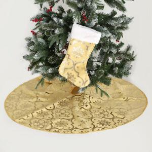 Tree Skirt Snowflake Xmas Tree Skirt Festival Ornaments Round With Xmas Stocking