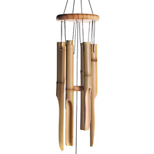 More details for bamboo wind chimes wooden chimes hanging garden decoration   m&w