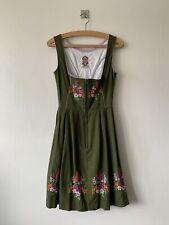 Vintage Dirndl Embroidered Dress,approx Size 6-8 Oktoberfest