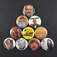 "The Shining 1"" Button Pin Set Horror Movie Novel Stephen King Stanley Kubrick"