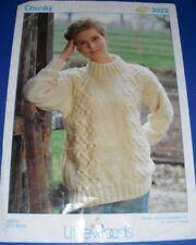 Littlewoods Womens Sweater Knitting Pattern 3022