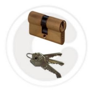 Cisa OG 300.13 brass-plated double cylinder 70 mm for locks