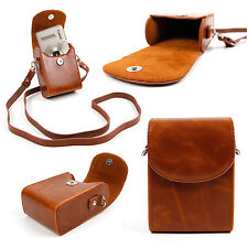 Faux Leather Case in Vintage Brown for Canon PowerShot D10, D20, G12, S95, S100