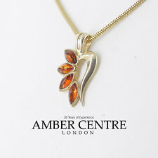 Italian Made Elegant Baltic Amber Pendant in 9ct Gold - GP0128 RRP£115!!!