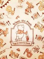 Disney Winnie the Pooh Tan Drawstring Bag