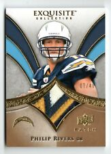 2009 Exquisite Collection Philip Rivers 3 Color Jersey Patch /40 Chargers QB