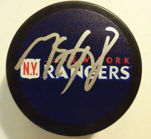 Autographed MARC STAAL Signed  NEW YORK RANGERS Hockey Puck
