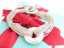 "Tiffany & Co Silver Circle Mesh Toggle Bracelet 7.6"""