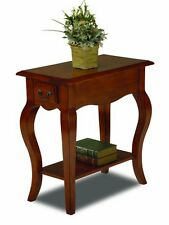Leick Furniture 9018-BR Chair Side End Table-Brown Cherry Finish