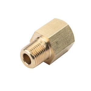 Oil Pressure Gauge Sensor Thread Adapter Reducer Brass 1/8 NPT To 1/8 BSPT