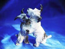 Antique Germany Crown mark 2 Scottish terrier dog s Dance! Scottie Scotty Nice