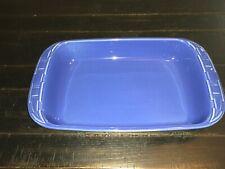Longaberger Pottery Woven Traditions Cornflower Blue Casserole 9 x13 Baking Dish