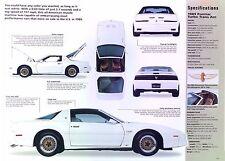 1989 Pontiac Firebird 20th Anniversary Turbo Trans Am V6 231 ci info/Specs/photo