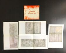 Fred DEUX catalogue de l'exposition « Le voyant des signes » + 4 planches 1989