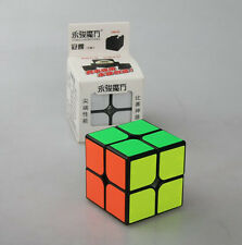 YongJun 2X2 Puzzle Twist  Magic ABS Ultra-smooth Professional Speed Cube black