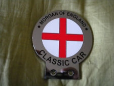 MORGAN OF ENGLAND CHROME & ENAMEL CAR BADGE