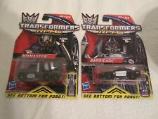 Transformers rpms  lot of 2 commander series MixMaster barricade