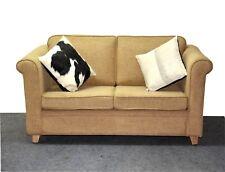 Modern Two Seater Sofa Mango Wood Cotton Fabric Designer Sofa