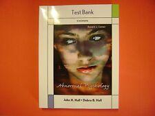 Test Bank  Abnormal Psychology