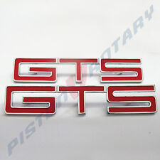 GTS Guards & Boot BADGES x2 RED , NEW , for HOLDEN HK HT HG MONARO fender hood