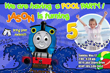 THOMAS THE TANK TRAIN 1ST BIRTHDAY PARTY INVITATION c6 - CARDS PHOTO pool