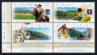 SCENIC HIGHWAYS = Canada 1997 #1653a MNH-VF LL Block of 4 q01