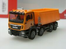 Herpa MAN TGS M Euro 6 Muldenkipper, 4-achs, orange - 307727 - 1:87 - sold out