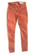 rag and bone Womens leggings Size 25 x 29 Red Cotton Skinny Leg Stretch N5