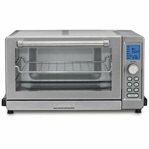 Cuisinart TOB-135 Deluxe Convection Toaster Oven Broiler Brushed Stainless