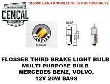FLOSSER THIRD BRAKE LIGHT BULB MERCEDES BENZ, VOLVO, 12V 20W BA9S   4020