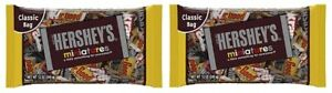 Hershey's Miniatures Chocolate Candy 2 Bag Pack