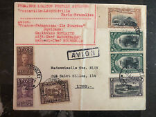 1931 Leopoldville Belgian Congo First Flight Crash Cover FFC to Belgium Salvaged
