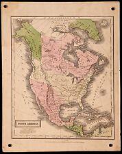 "Antique 1829 D F Robinson, Jesse Olney North America Atlas Map, ~9.25"" x 11.75"""