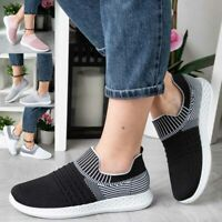 Womens Ladies Scock Trainers Sneakers Slip On Jogging Plimsole Gym Pumps Shoes