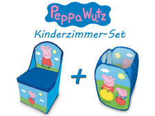 Peppa Wutz Kinderzimmer-Set (Kid's Chair With Storage + Hamper) Pig New