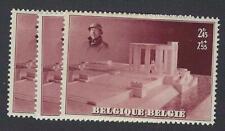 Belgique België 465A** mnh** x3 du Bloc 8 Albert 1er Nieuport cob € 60-